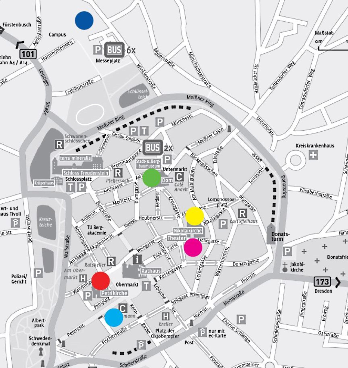 Karte aller Veranstaltungsorte